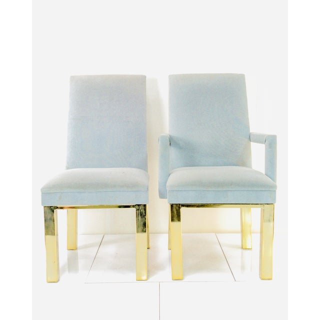 Hollywood Regency 1970s Milo Baughman for Dia Dining Chairs- A Pair For Sale - Image 3 of 7