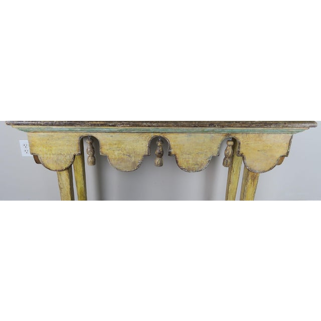 Italian Painted Italian Console W/ Tassels For Sale - Image 3 of 11