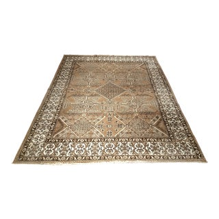 Vintage Oushak Style Carpet With Natural Wool Colors - 8′3″ × 11′
