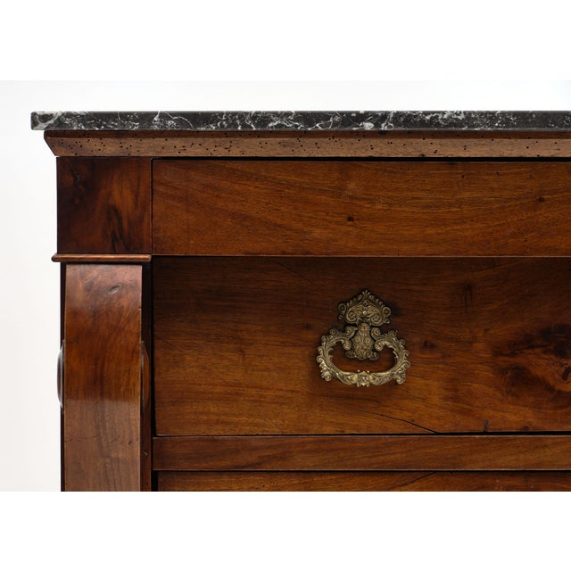 French Restauration Period Walnut Chest of Drawers For Sale In Austin - Image 6 of 10