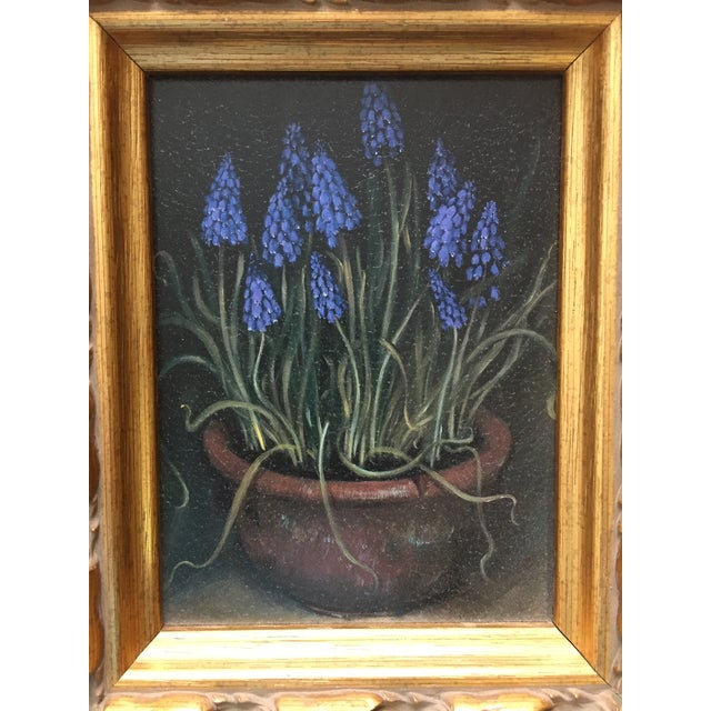 Framed Painting of Flowers in a Clay Pot - Image 3 of 5