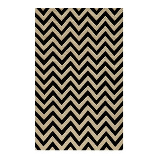 """Contemporary Momeni Delhi Hand Tufted Ivory Wool Area Rug - 3'6"""" X 5'6"""" For Sale"""