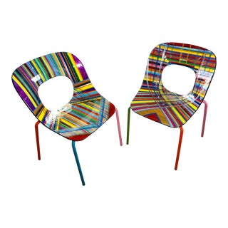 Mauro Oliveira Stylized Chairs- A Pair For Sale