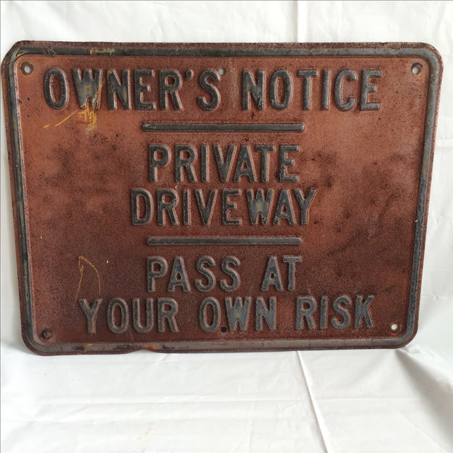 Vintage Private Driveway Sign - Image 2 of 6