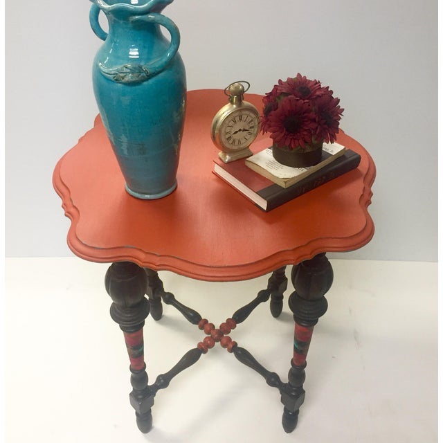 Orange Spice Accent Table - Image 4 of 8