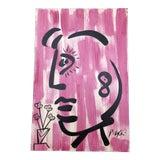 Image of Original Vintage Peter Robert Keil Face Painting For Sale