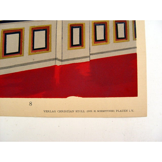 Antique 1929 Art Deco Interior Pochoir Print - Image 3 of 3