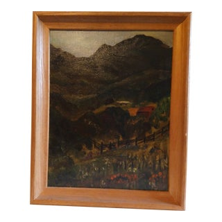 "1950s ""Quite Hills of Mt. Diablo, California"" Landscape Oil Painting by Evelyn T. King, Framed For Sale"