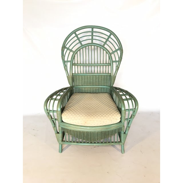 Ficks Reed Rattan Bamboo Fan Back Arm Chair - Image 3 of 11
