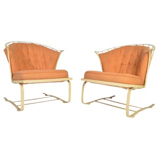 Russell Woodard Cantilever Patio Lounge Chairs For Sale