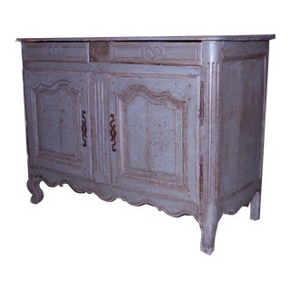Antique French Buffet With Original Paint For Sale