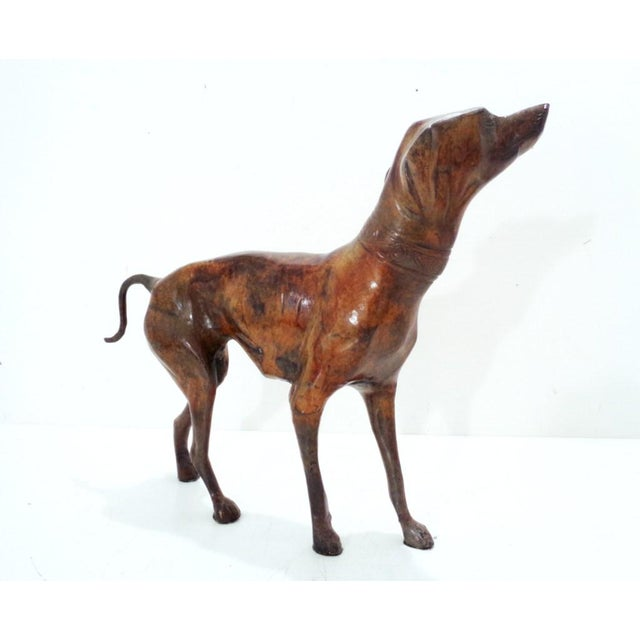 1990s Bronze Iron Whippet Greyhound Statue Doorstop For Sale - Image 5 of 7