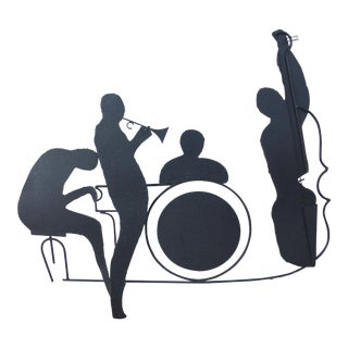 Signed C. Jere 1991 Jazz Band Iron Wall Sculpture