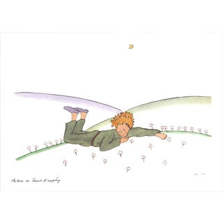 2015 Antoine De Saint Exupery 'The Little Prince Dreaming' Modernism Multicolor,Purple,Green France Lithograph For Sale
