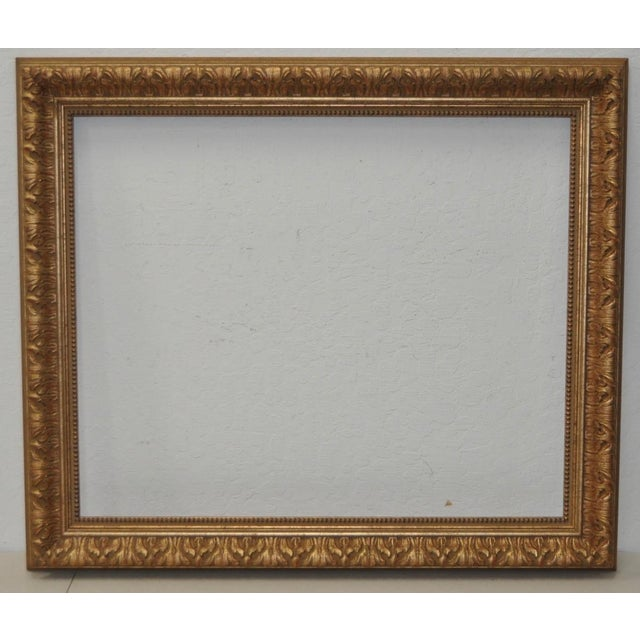 Vintage Carved & Gilded Italian Frame c.1940s to 1950s | Chairish