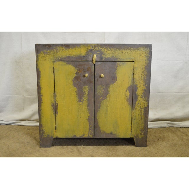 STORE ITEM #: 16191-ax Primitive Distressed Painted Country Small Dry Sink Cabinet AGE/COUNTRY OF ORIGIN – Approx 25...