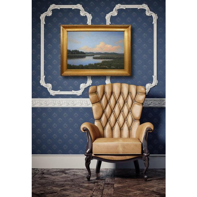 Professionally framed in a classic wood antiqued gold frame. Ready to hang. Signed by artist Ronald Tinney, 2016. Framed...