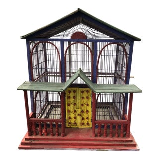 1920's Handmade Painted Birdhouse