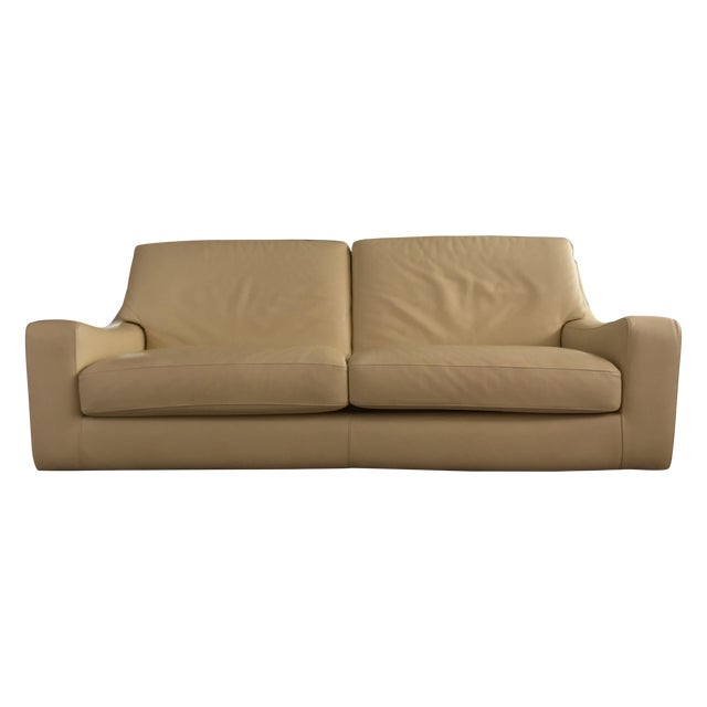 Roche Bobois Leather Sofa Sleeper For Sale