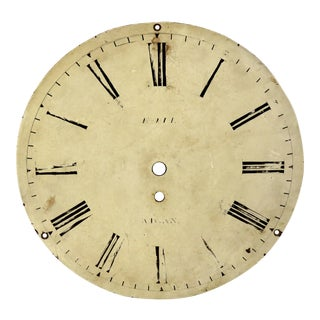 Antique Painted Steel Clock Dial. Mid 1800s For Sale