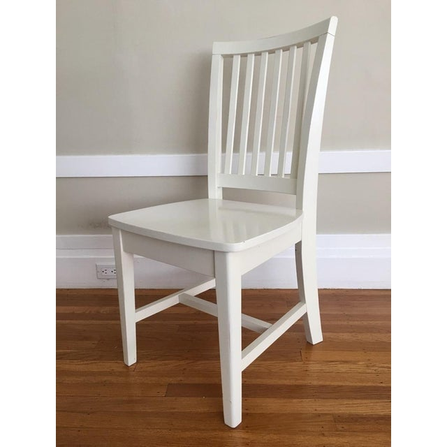 Pottery Barn Kids White Side Chair - Image 3 of 5