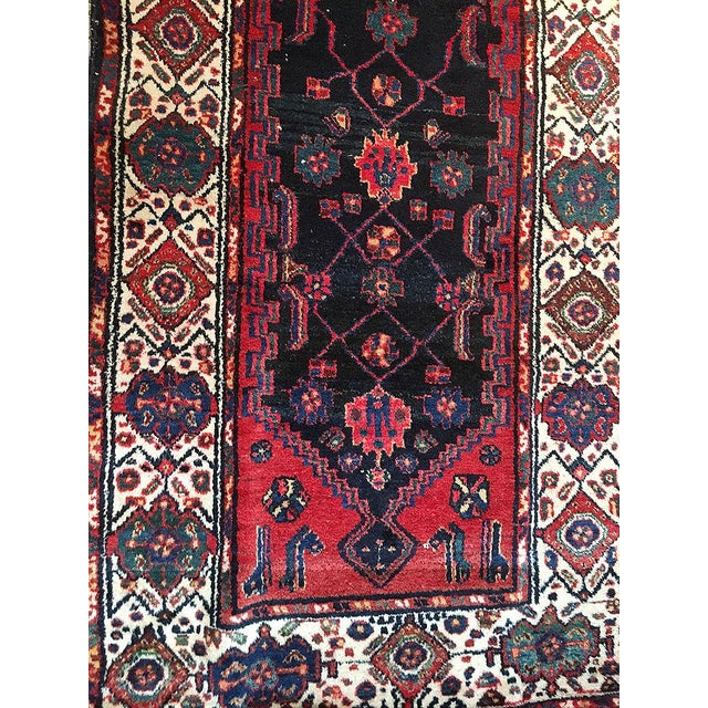 "Islamic A Marvelous Vintage Persian Hamedan Hallway Runner Rug - 3'-1"" x 11'-9 For Sale - Image 3 of 4"