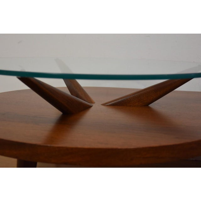Kagan Style Walnut Coffee Table - Image 6 of 10