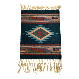 Vintage Navajo Hand Woven Mat For Sale