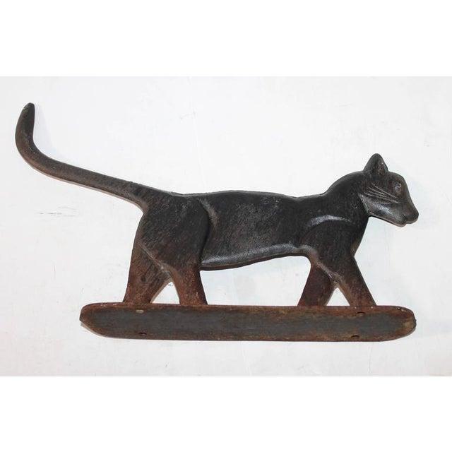 19th Century Cast Iron Cat Boot Scraper - Image 7 of 7