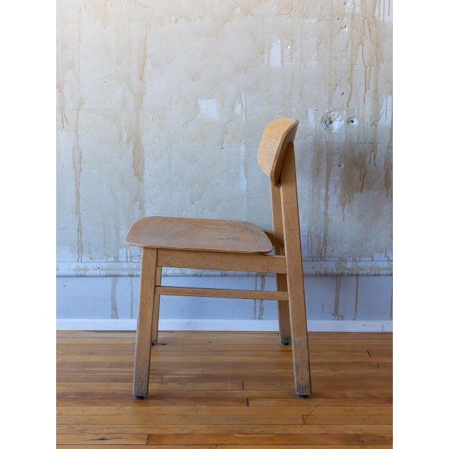 Brown Vintage Italian School Chairs- Set of 8 For Sale - Image 8 of 11