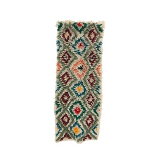 """Azilal Vintage Moroccan Rug, 2'7"""" X 6'5"""" Feet For Sale"""
