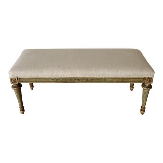19th Century Italian Painted Bench For Sale