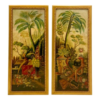 Maitland-Smith Tropical Bird Panels -A Pair For Sale