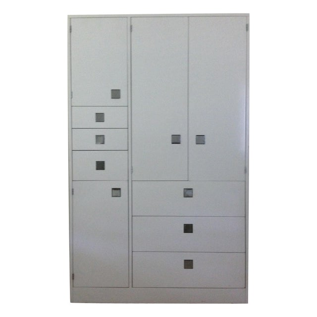 White Lacquer Armoire by Directional - Image 1 of 4