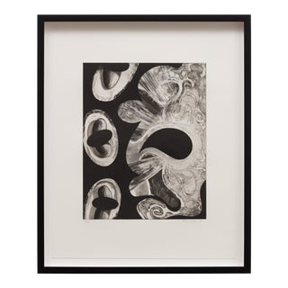 """1990 """"Untitled #1"""" Abstract Etching by David Lloyd, Framed For Sale"""