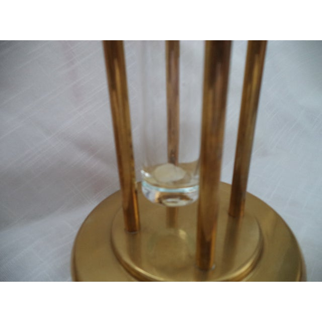 Gold Vintage Mid-Century Brass and Glass Floating Candle Holders - a Pair For Sale - Image 8 of 10