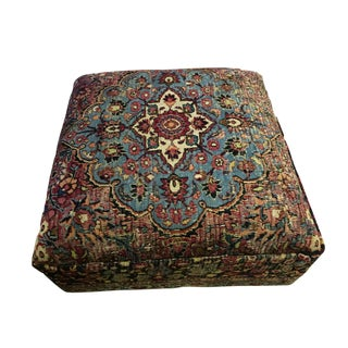 "Oversized Antique Tribal Bakhtiari Ottoman /Table 18"" H"