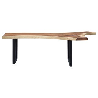 Organic Modern Acacia Wood Long Console Table For Sale