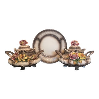 1930s Stunning Capodimonte Signed Tureens - Set of 3 For Sale