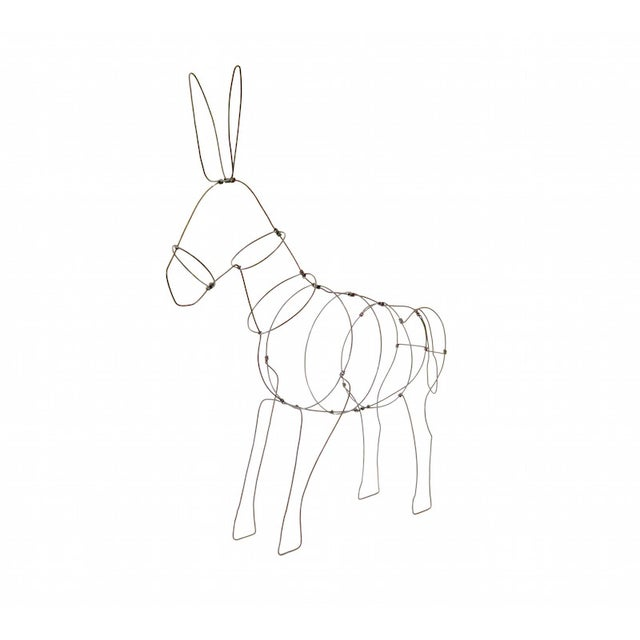 Wire Donkey Sculpture - Image 2 of 5