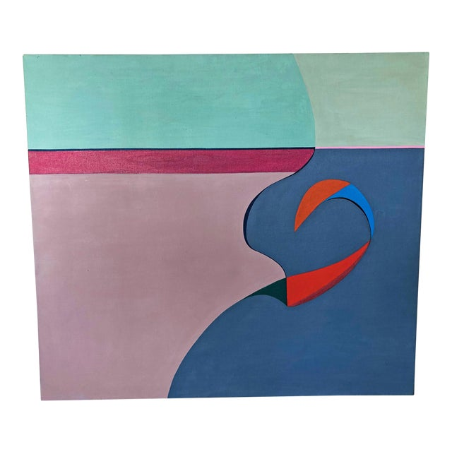 "Acrylic on Canvas, ""No Man's Island"", Betty Usdan-Zwickler, 1982 For Sale"