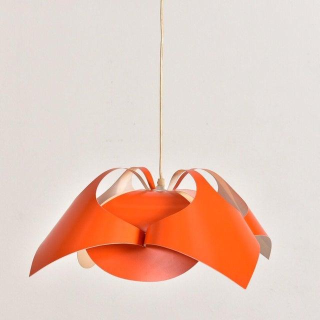Mid-Century Modern Verner Panton Orange Lamp For Sale - Image 3 of 7