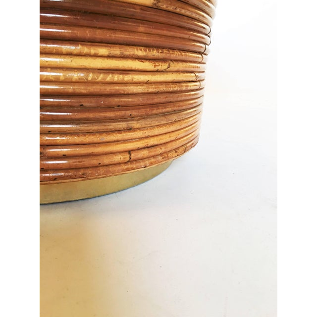 Bamboo and Brass Table For Sale In Dallas - Image 6 of 7