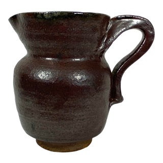 Stoneware Pottery Pitcher For Sale