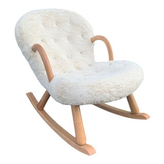 Hand Crafted Clam Style Rocking Chair For Sale