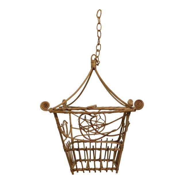 Vintage Wicker Pagoda Bird Cage - Image 1 of 4