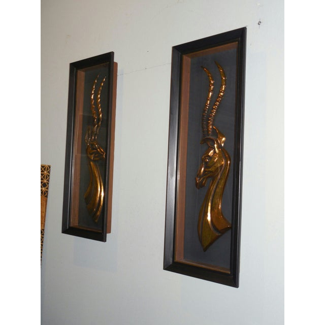 Hollywood Regency Gazelle Shadow Boxes - A Pair - Image 8 of 8