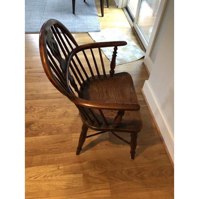Mid 19th Century Wheatland Rockley Windsor Chair For Sale - Image 9 of 13