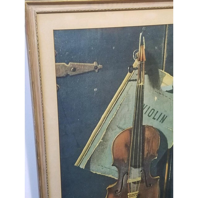 Vintage Print of a Violin and Sheet Music For Sale - Image 4 of 8