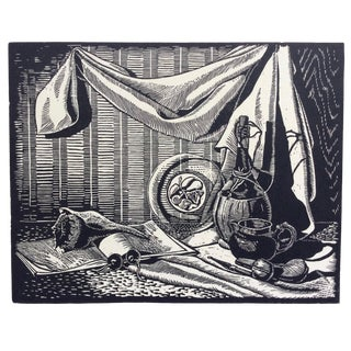 Collectors Items Woodcut by Donald Brown 1930s For Sale
